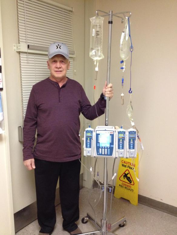 Walking the halls with chemo attached