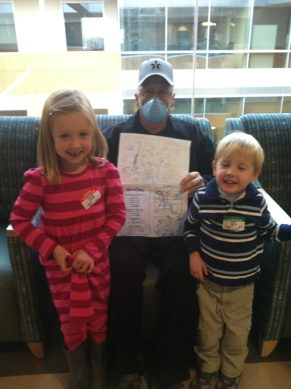Chloe and Cole's first visit after chemo