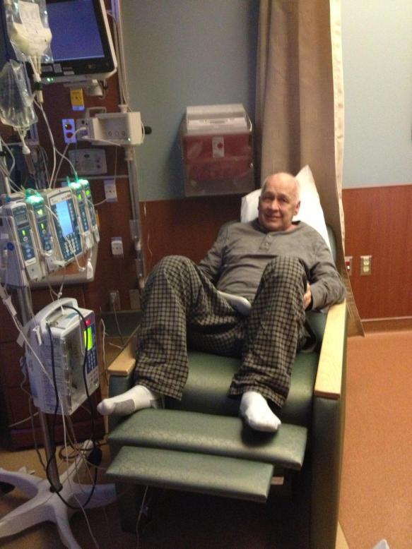 A very sick, hospitalized Dad